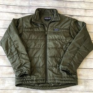 Patagonia Men's Olive Green Puffer Jacket Size S